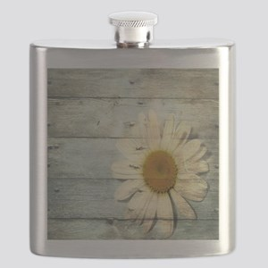 shabby chic country daisy Flask
