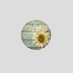 shabby chic country daisy Mini Button