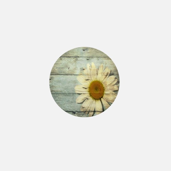 shabby chic country daisy Mini Button