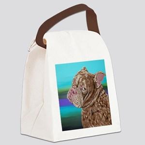 Olde English Bulldogge Canvas Lunch Bag