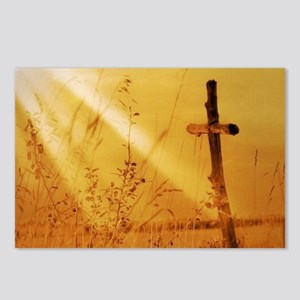 inspirational sunrays gol Postcards (Package of 8)