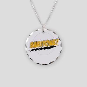 Baritone! Necklace Circle Charm
