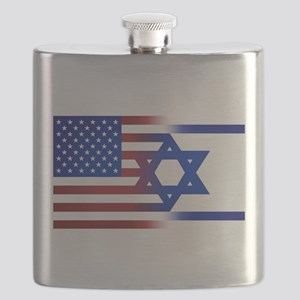 America stands with Israel Flask