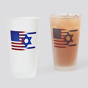 America stands with Israel Drinking Glass