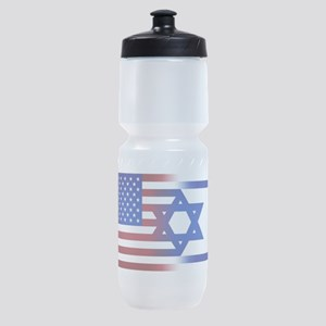 America stands with Israel Sports Bottle