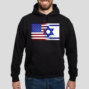 America stands with Israel Hoodie (dark)