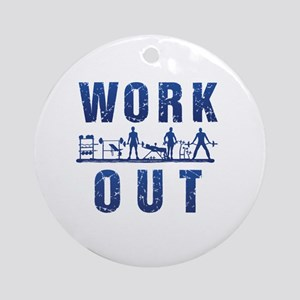Work out Ornament (Round)