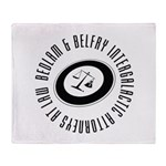 Bedlam & Belfry Intergalactic Logo Throw Blanket