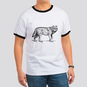 Vintage Hipster Wolf T-Shirt