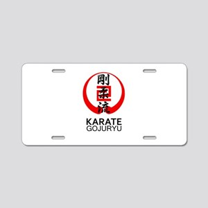 Gojuryu Karate Symbol and K Aluminum License Plate