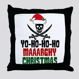 Pirate Christmas Throw Pillow