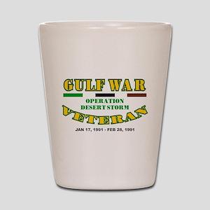 GULF WAR VETERAN OPERATION DESERT STORM Shot Glass