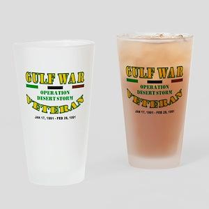 GULF WAR VETERAN OPERATION DESERT S Drinking Glass