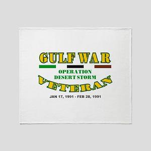 GULF WAR VETERAN OPERATION DESERT ST Throw Blanket