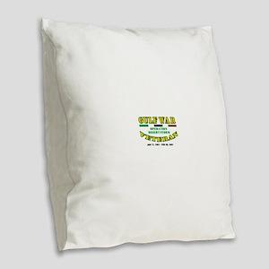GULF WAR VETERAN OPERATION DES Burlap Throw Pillow
