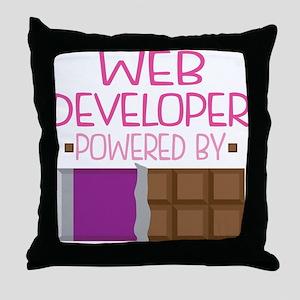 Web Developer Throw Pillow