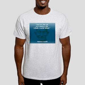 GANDHI - AN EYE FOR AN EYE Ash Grey T-Shirt