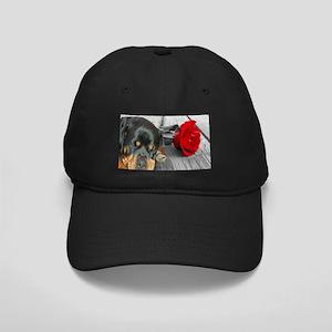 Rottweiler and Rose Baseball Hat
