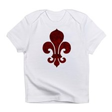 Cracked Red Fleur De Lis Infant T-Shirt