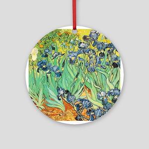 Vincent VanGogh Irises Porcelain Ornament