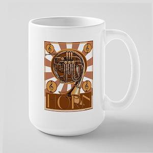 Retro French Horm Large Mug