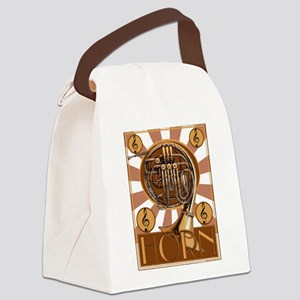 Retro French Horm Canvas Lunch Bag