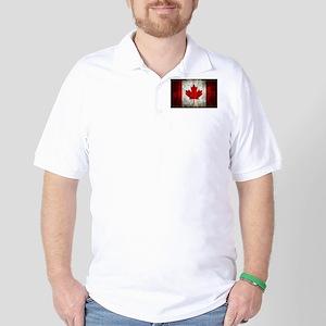 Canadian Flag Golf Shirt