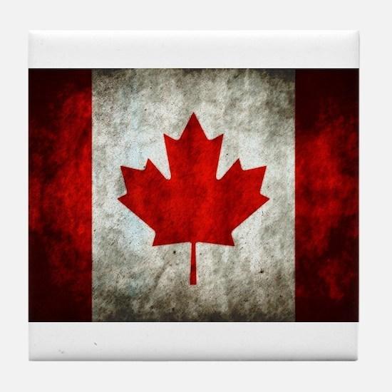 Canadian Flag Tile Coaster
