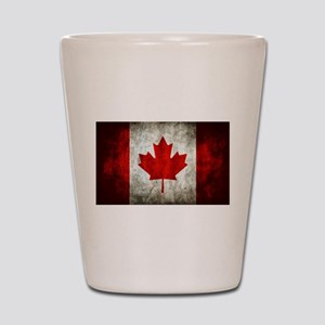 Canadian Flag Shot Glass