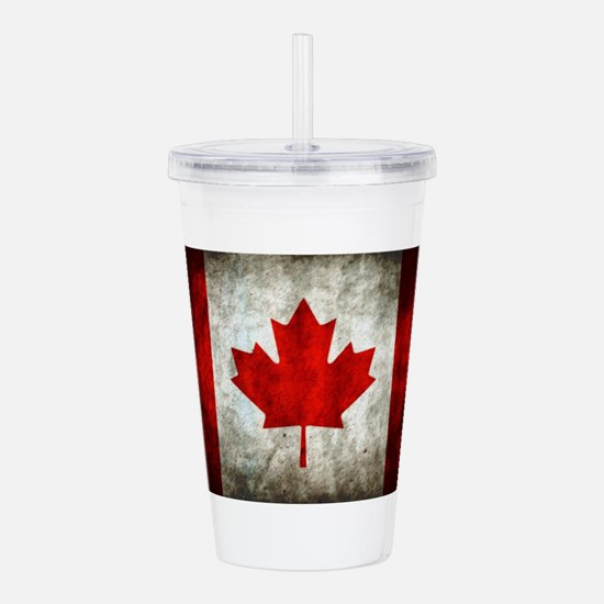Canadian Flag Acrylic Double-wall Tumbler