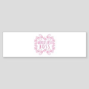 Cute Pink World's Best Boss Sticker (Bumper)