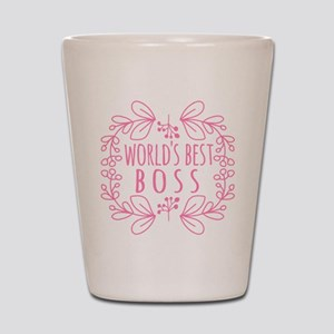 Cute Pink World's Best Boss Shot Glass