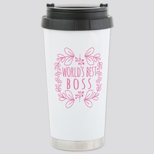 Cute Pink World's Best Stainless Steel Travel Mug