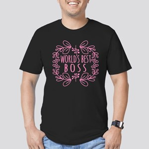 Cute Pink World's Best Men's Fitted T-Shirt (dark)