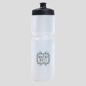 Cute Black World's Best Boss Sports Bottle