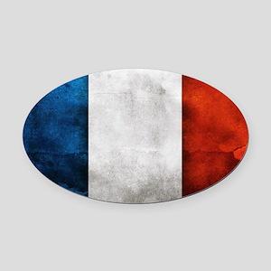 France Oval Car Magnet