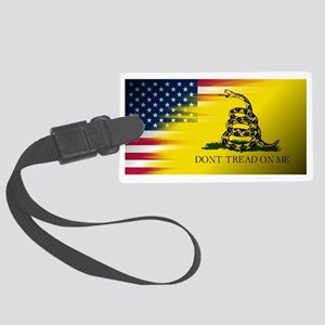 American Flag/Don't tread on Me Large Luggage Tag