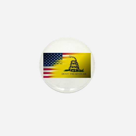 American Flag/Don't tread on Me Mini Button