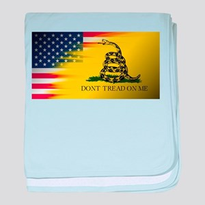 American Flag/Don't tread on Me baby blanket