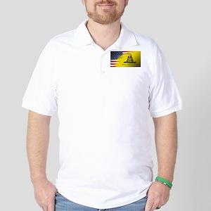 American Flag/Don't tread on Me Golf Shirt