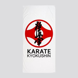 Kyokushin Karate Symbol and Kanji Beach Towel
