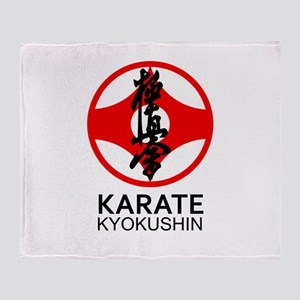 Kyokushin Karate Symbol and Kanji Throw Blanket