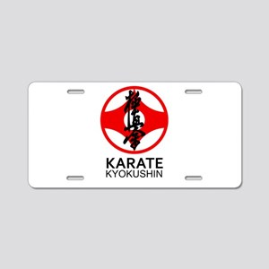 Kyokushin Karate Symbol and Aluminum License Plate
