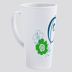 C Flowers 17 oz Latte Mug