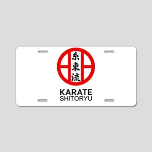 Shitoryu Karate Symbol and Aluminum License Plate