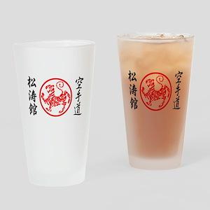 Shotokan Karate Symbol Drinking Glass