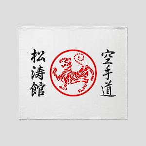 Shotokan Karate Symbol Throw Blanket