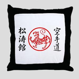 Shotokan Karate Symbol Throw Pillow