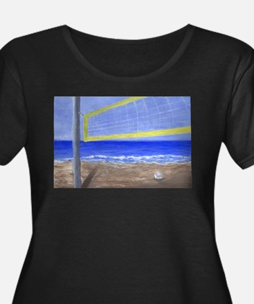 Beach Volleyball Plus Size T-Shirt