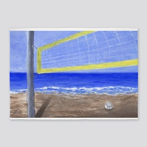 Beach Volleyball 5'x7'Area Rug